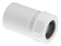 "McAlpine R17 19mm-23mm x 1""1/2 ABS solvent to Overflow adaptor"