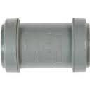 40mm Push Fit Waste Straight Coupler - Grey