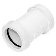 32mm Push Fit Waste Straight Coupler - White